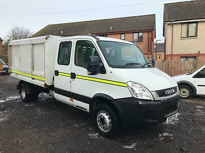 2012 (12) Iveco Daily 70C18 3.0 Hpt Crew Cab Tipper Truck Dustbin Cart Body