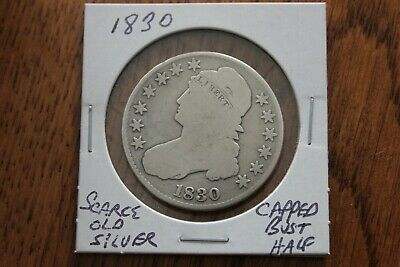 1830  Scarce Old Silver  Capped Bust Half