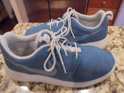 cbdce72cc33f Mens Nike Roshe Run Blue Lagoon athletic running shoes size 9 excellent  condtn!