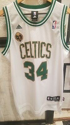 new styles 10a11 65062 ADIDAS BOSTON CELTICS Paul Pierce Jersey 17x Champions 2008 Gold Men Medium  Sewn