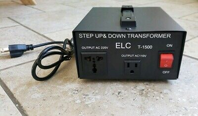 NEW ELC T-1500 1500W Voltage ConverterStep Up & Down Transformer