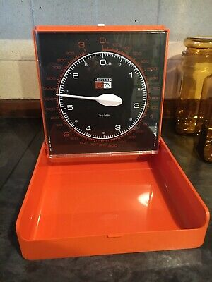 Vintage Retro Scales Hanson Wall Mounted Kitchen Burnt Orange Kitchenalia