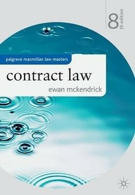 Contract Law (Palgrave Macmillan Law Masters), Very Good Books
