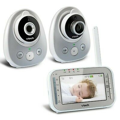 VTech VM342-2 Video Baby Monitor with 170-Degree Wide-Angle Lens for Panorami...