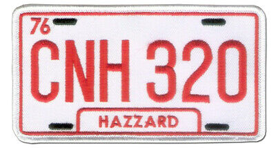 """5 1/8"""" X 2 3/4"""" Embroidered """"DUKES OF HAZARD """" License Plate - Wax Back - NASCAR"""