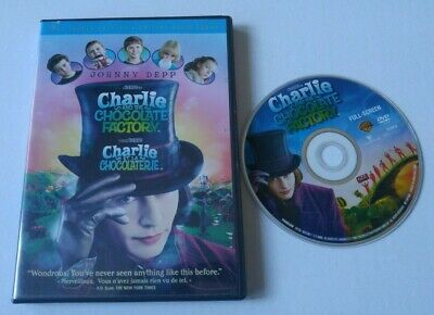 Charlie and the Chocolate Factory DVD 2005 Full Frame tim burton