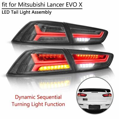 LED REAR TAIL Light Assembly For Mitsubishi Lancer EVO X 08-17 Turn Signal  Lamp