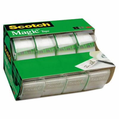 "Scotch Magic Tape in Handheld Dispenser 3/4"" x 300"" 1200"" Core Clear 4/Pack 4105"