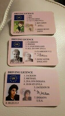 Novelty Character Driving Licences Del Boy Simpsons Harry Potter Jeremy Clarkson