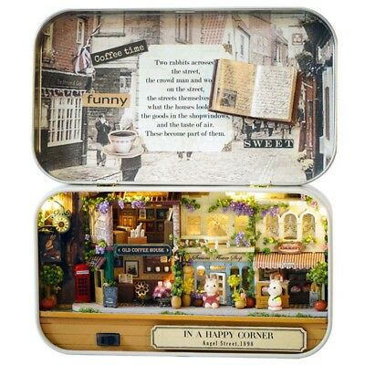 3D Doll Box Wooden House Theatre Dollhouse Puzzle Furniture Xmas Miniature Gifts