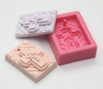 (Necklace type) Rose cross-1 ball Silicone soap Mould plaster Mold