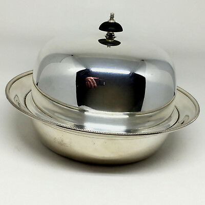 Antique Harrison Brothers & Howson Silver Plated Muffin Warmer Covered Dish UK