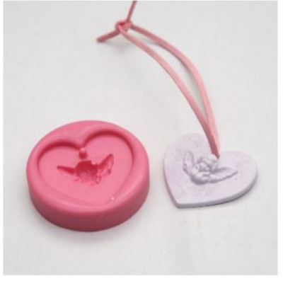 For Necklace-Mini Baby-Angel-1-ball Silicone soap Mould plaster Mold
