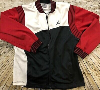 reputable site 128e5 8a727 Vintage Nike Air Jordan Jumpman Track Warm Up Jacket Size XL Black Red White
