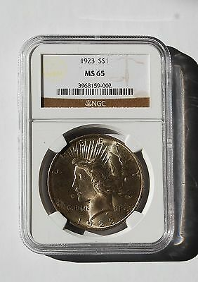 1923 Silver Peace Dollar NGC MS 65 (#3968159-002) Philadelphia Uncirculated