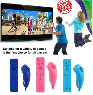 2in1 Built in Motion Plus Remote and Nunchuck Controller for Nintendo Wil UK