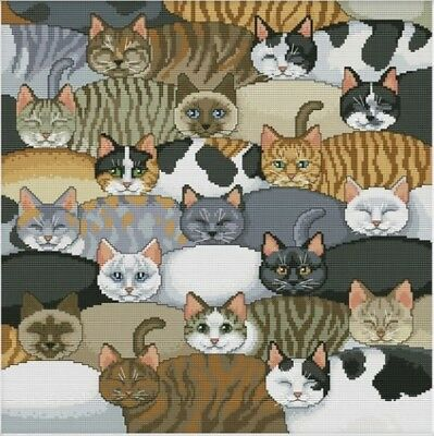Cats. Kittens. 14CT Counted Cross stitch Kit. Craft Brand New