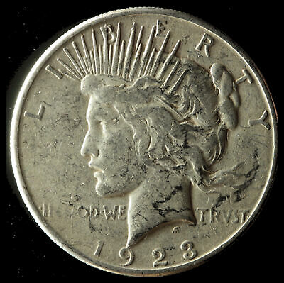 1923-S Peace 90% Silver Dollar Ships Free. Buy 5 for $2 off