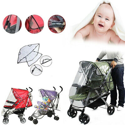 Universal Waterproof Strollers Cover Plastic Wind Shield Pushchairs Rain Shades