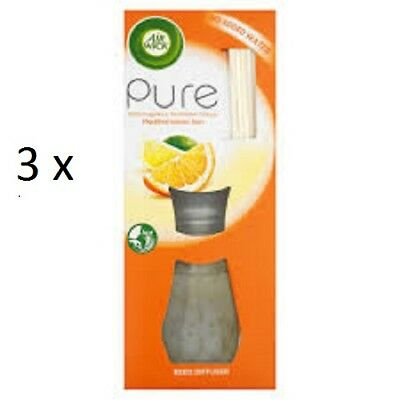 Air Wick Reed Diffusers 3 x MEDITERRANEAN SUN - NEW  PURE RANGE