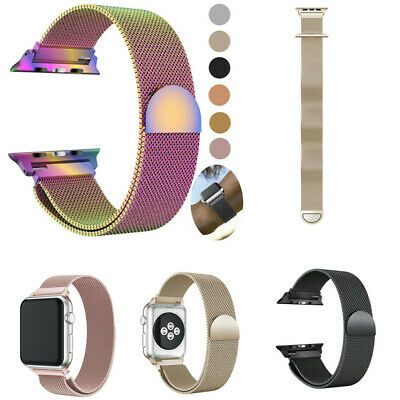 Milanese Stainless Steel Magnetic Watch Band For Apple Watch Series 4 40/44MM