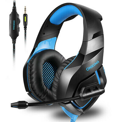 ONIKUMA K1 Stereo Bass Surround Gaming Headset w/ Mic for PC PS4 Xbox One J8O0