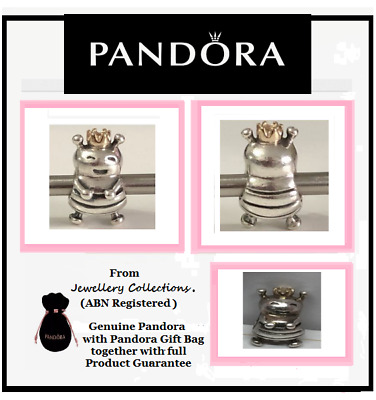 Genuine PANDORA Queen Bee Charm Two Tone Silver & 14ct Gold Crown 790227