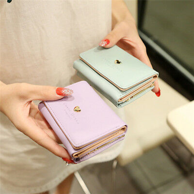 Women Ladies Cash Short Wallet Card Holder Clutch Handbag Coin Purse TO