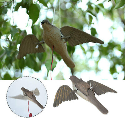 1DF3 Repellent Bird PE Garden Motor-Driven Realistic Hunting Decoy Bird Decoy