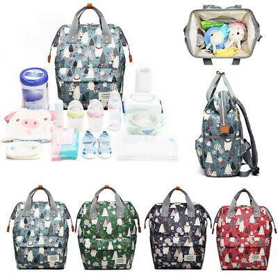 LEQUEEN Large Multifunctional Baby Diaper Nappy Backpack Mummy Changing Bag