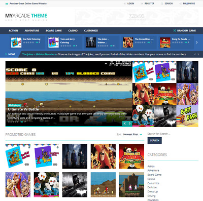 Wordpress Based Established Gaming Website Script - 100% Autopilot -SEO Friendly