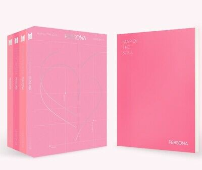 BTS MAP OF THE SOUL:PERSONA Album 4Ver SET CD+P.Book+M.Book+P.Card+Postcard+Film