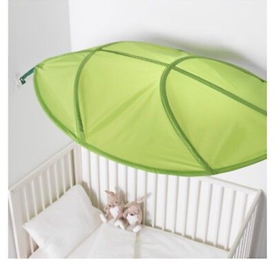 IKEA LÖVA LOVA Green Leaf Children's Bed Canopy/Brand New