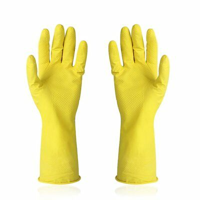Kitchen Rubber Cleaning Gloves Reusable Household Waterproof Washing Gloves#BGQ