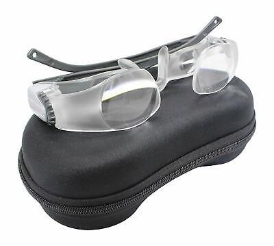 Portable Max TV Glasses 2.1X 0 to +300 Degree Magnifying Glass Goggles Magnifier