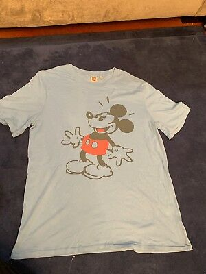 60411b3f61 DISNEY JUNK FOOD Mens Sz Large Mickey Tee Vintage Mouse T Shirt Top Blue  Target