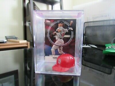 2019 Topps Series 2 Harrison Bader Shadow Box St. Louis Cardinals + Micro Helmet