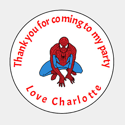 Thank you for coming to my party box bag LARGE 64mm Round Labels Stickers