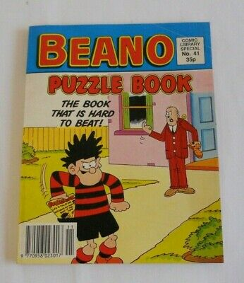 Beano Puzzle Book, Fun Size - Comic Library Special No. 41, 1990 - Blank