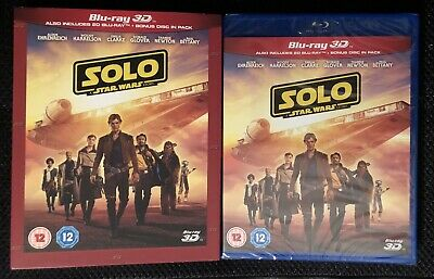 Solo A Star Wars Story (3D & 2D Blu-ray discs, 2018) Region Free SEALED