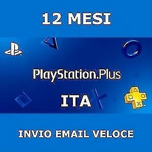 PS Plus PSN PlayStation Plus 12 mesi(+1 MESE GRATIS) PS4 abbonamento NO TRUFFA