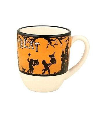Bethany Lowe Vintage Style Halloween Trick Or Treat Cup Mug Witch Cat Pumpkin