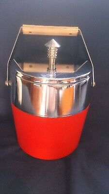 Vintage Retro 60's or 70's Ice Bucket Red made in japan - Kitchenalia