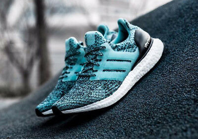 2509af2a099b8 ADIDAS ULTRA BOOST 3.0 MINT GREEN BLACK WOMENS RUNNING TRAINERS SIZE UK 5.5  Rare