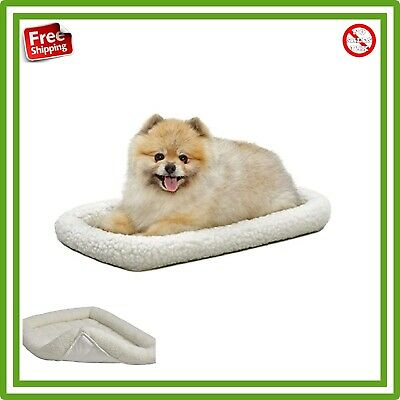 Deluxe Bolster Pet Bed for Dogs Cats Soft Fleece Top Comfortable Padded New
