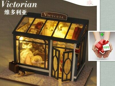 New To Victorian Dollhouse Miniature DIY Kit  doll house + GIFT