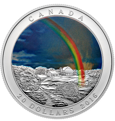 2016 Weather Phenomenon Radiant Rainbow Proof Silver Coin Limited Edition!
