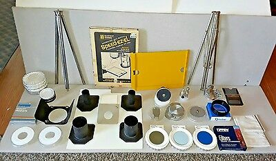 Technika Linhof 4x5 Accessories Lot Extension Tubes Lens Boards Tripods Filters