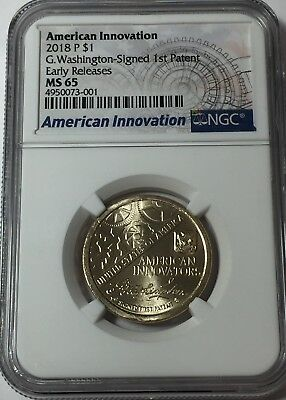 """2018 P NGC MS65 AMERICAN INNOVATION DOLLAR EARLY RELEASES MS 65 """"LIVE"""" #Su1"""