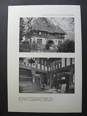 MAYBE House Design At Heilbronn & Entrance At Dillenburg By Hugo Eberhardt  1911